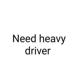 We need heavy driver live in Qatar