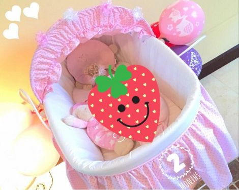 Baby Basket for Baby Girl color Pink