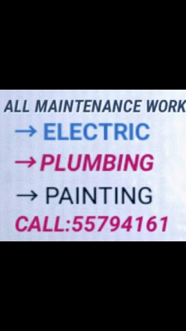 ELECTRIC, PLUMBING AND PAINTING WORK