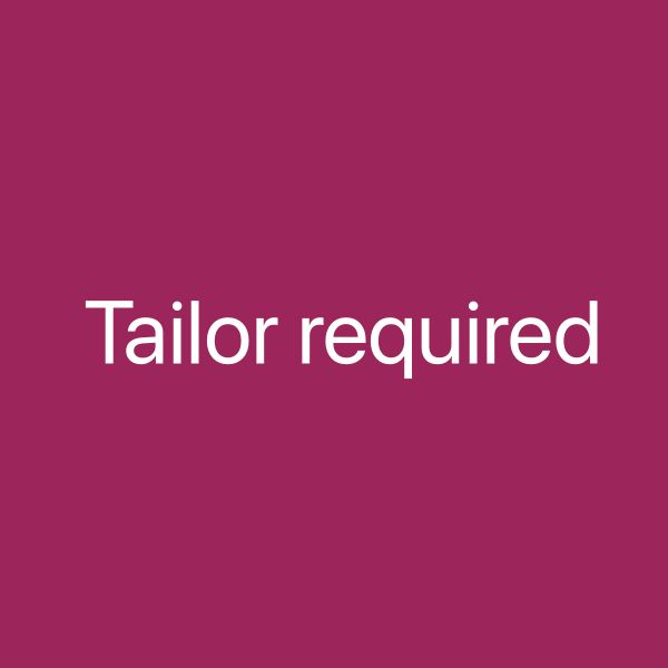 Tailor required