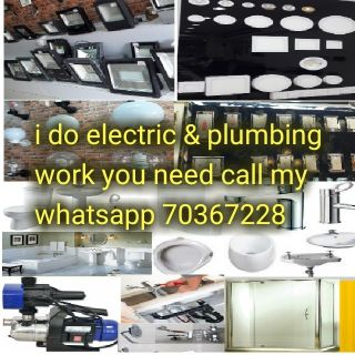 I do all electric @plumbing work if you
