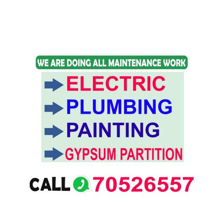 PLUMBING ELECTRIC PAINTING SERVICE.