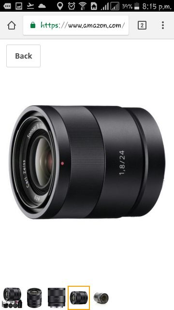 CARL ZEISS F1.8 24MM PRIME LENS
