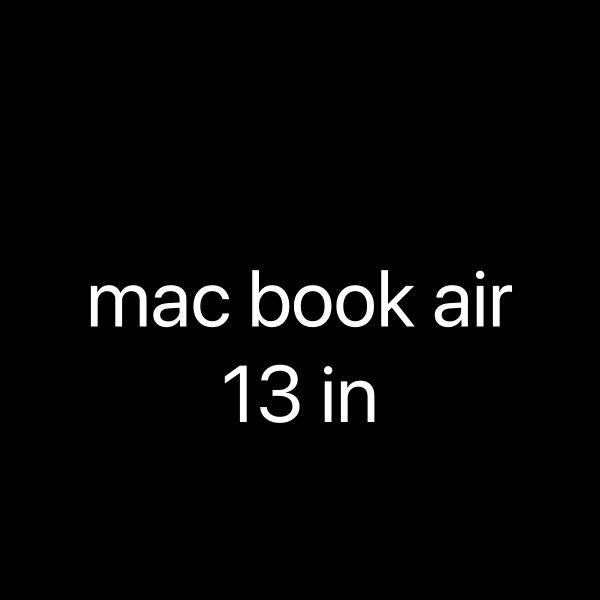Mac book air 13 in