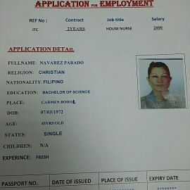 Housenurse from Philippines