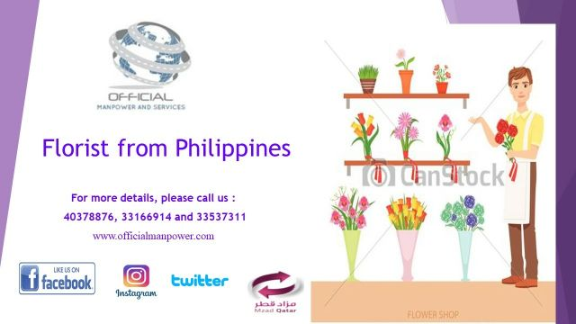 Florist from Philippines (Male)