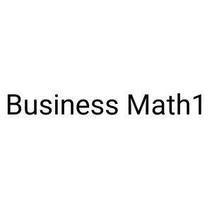 Business Maths1