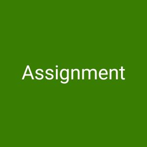 Assignments and Projects