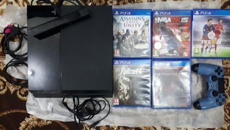 ps4 500GB with 5 games