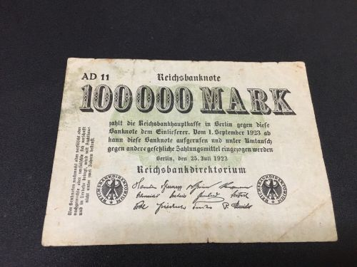 German 100000 mark