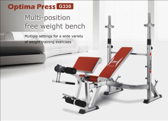 Multiposition weight training press benc
