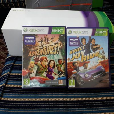xbox 360 kinect with two kinect games