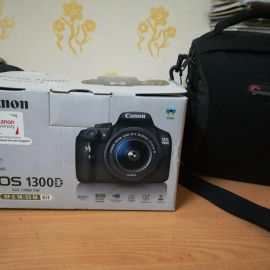 Canon 1300d with zoom lens