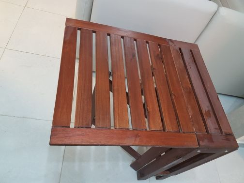 APPLARO Table+2 Chairs stained brown