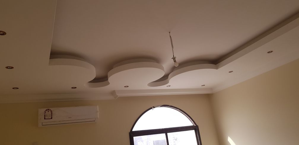 gypsum work full design and partition