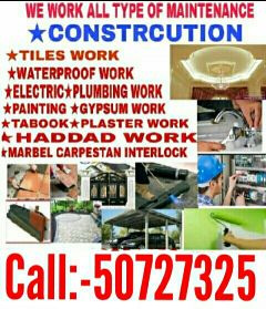 painting, plumber, gypsum and electric