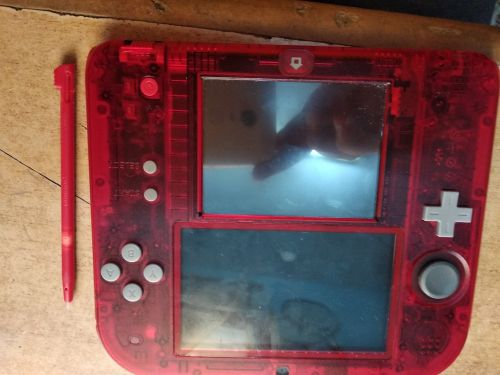 Nintendo 2ds crystal red for sale