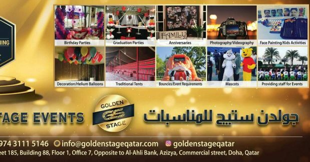 Golden Stage For Events