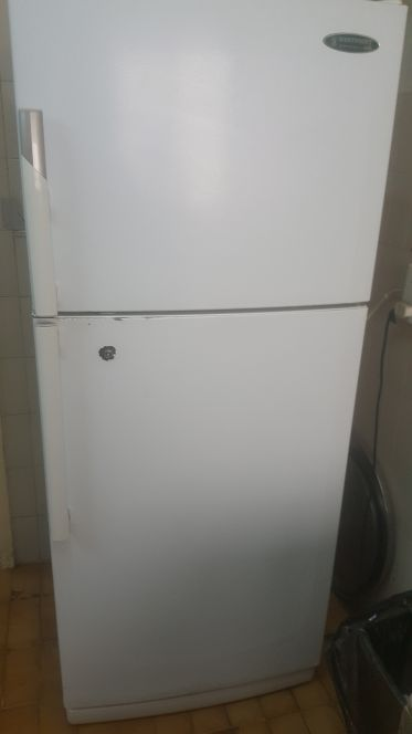 fridge and cooker