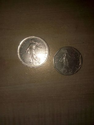 2 old franch coins