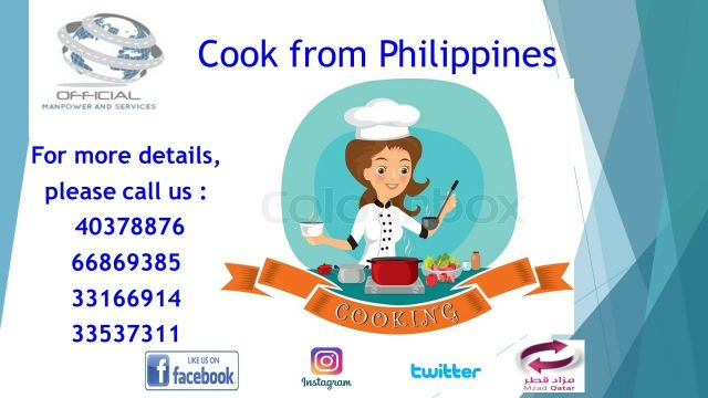 Cook from Philippines