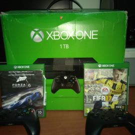 XBOX ONE 1tb FOR SALE + 2 GAMES