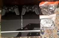 ps3 with 2 controller and 10 games