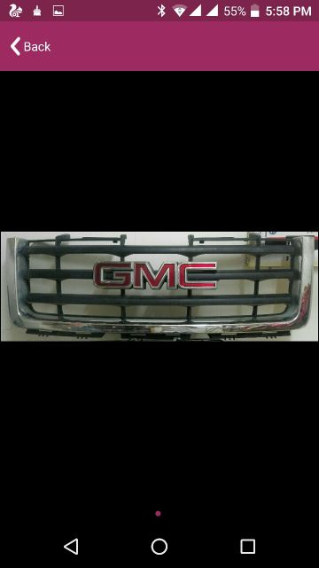 GMC GRILL FOR SALE