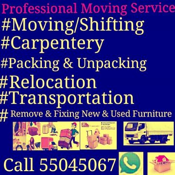 Moving /Shifting /Carpenter, services