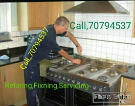 Gass cooker oven Refaring servicing