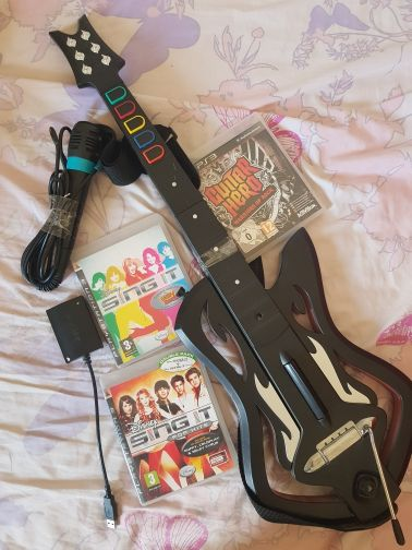 PS3 guitar and mic