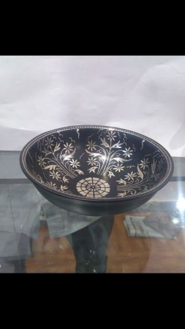 Bidri Art Silver Bowl