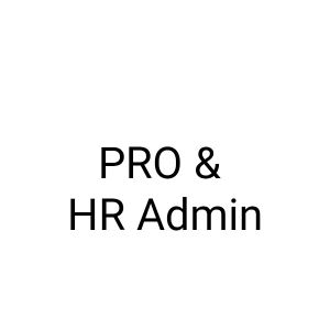 PRO & HR Admin with experience