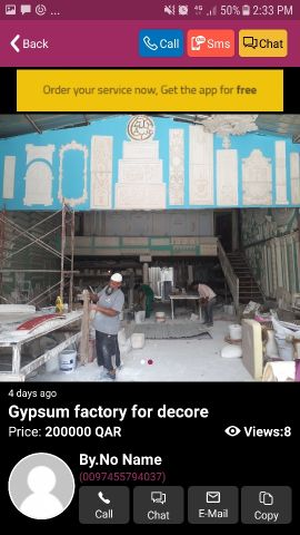 Gypsum work shop for decore