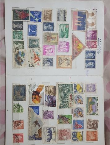 330 old stamps collections