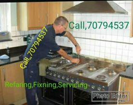 Gass cooker Refaring servicing ,and fixn