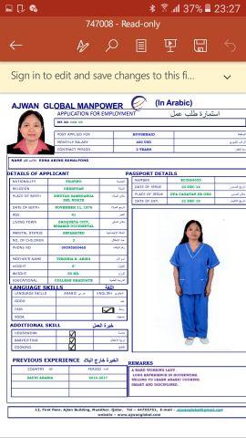 filipina housemaid available now in doha
