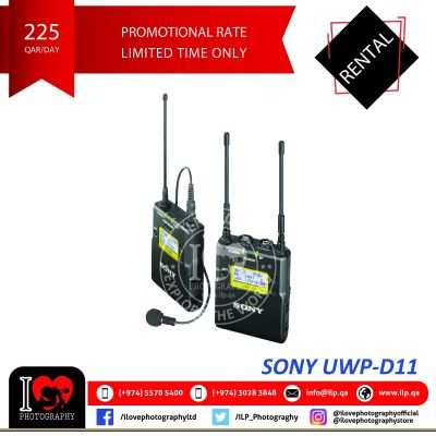 Sony UWP D-11 available for rental!