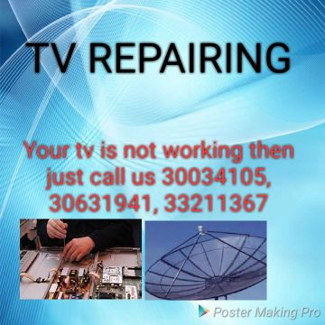 We doing TV servicing and dish satellite
