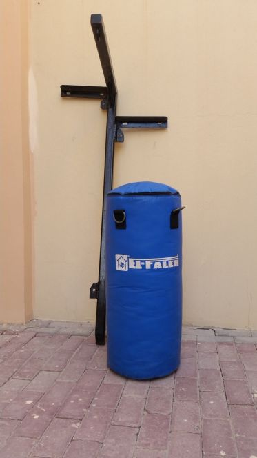 boxing bag with customized wall holder