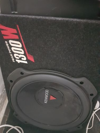 amp and woofer