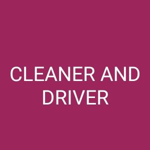 baker and cleaner wanted