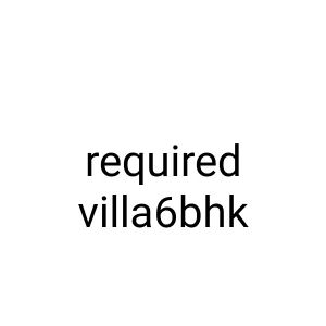 wanted villa for family stand alon villa