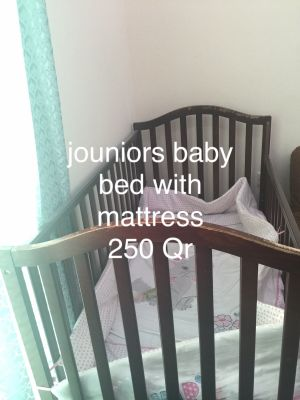 jouniours baby bed with mattress130 /70
