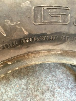brand new general tyre 285/70/17