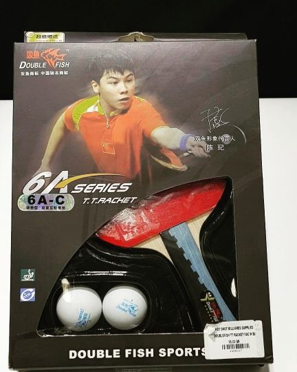 Double Fish Table Tennis Racket 6AC