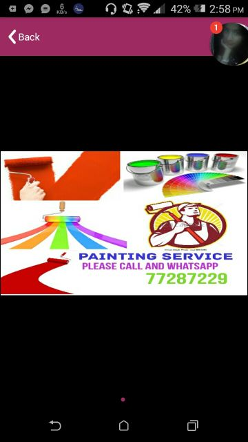 All kind of painting service low price