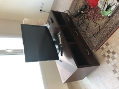 Tv table with lamp