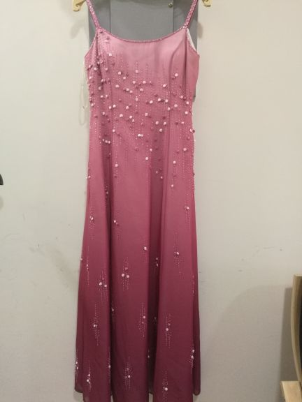 Long rosey evening dress used for once