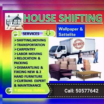 All furniture items moving nd shifting